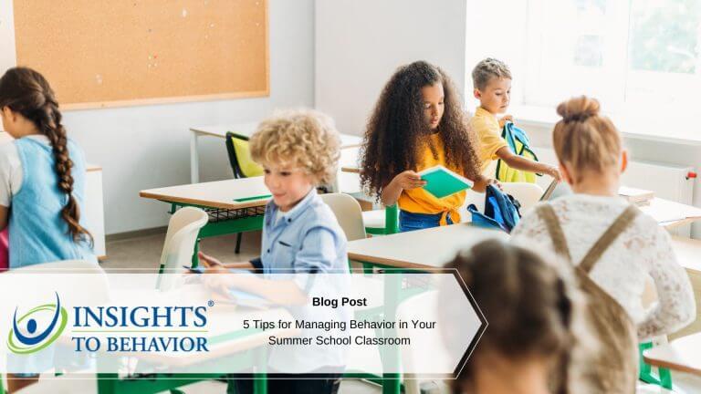 summer classroom behavior management